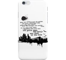 """""""Way Down In The Hole"""" - The Wire - Dark iPhone Case/Skin"""
