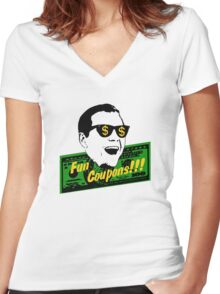 Fun Coupons! The Wolf of Wall Street Women's Fitted V-Neck T-Shirt