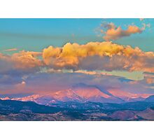 Colorado Twin Peaks Gold Photographic Print