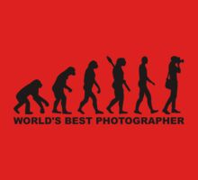 Evolution World's Best Photographer One Piece - Long Sleeve