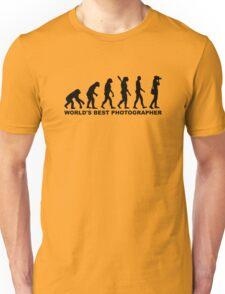 Evolution World's Best Photographer Unisex T-Shirt