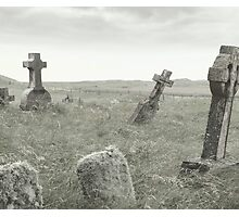 spooky grave yard Photographic Print