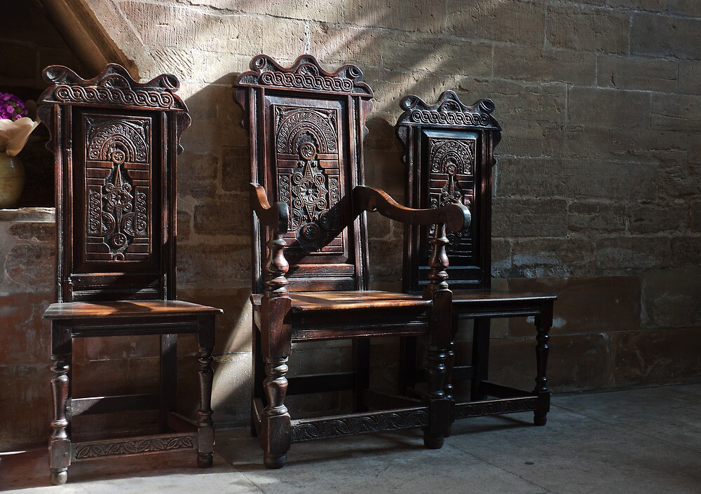 Southwell Minster-Three chairs by jasminewang