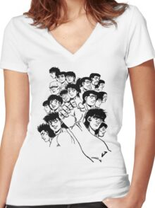 Hajime  No Ippo - Group Women's Fitted V-Neck T-Shirt