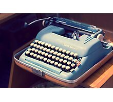 Vintage Baby Blue Typewriter Photographic Print