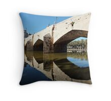 Puente Del Mar,The Gardens of Turia Throw Pillow