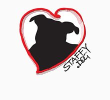 Staffy Dog in my Heart Womens Fitted T-Shirt