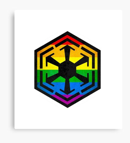 Rainbow Sith Canvas Print