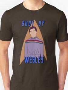 "Wesley Crusher - ""Shut Up Wesley"" - Star Trek the Next Generation Unisex T-Shirt"