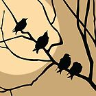 BIRDS ON A BRANCH by monkeydesigns4u