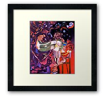 The Haunted Easel. Framed Print