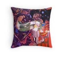 The Haunted Easel. Throw Pillow