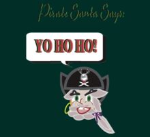 Pirate Santa says Yo Ho Ho - Face Only by Weber Consulting