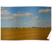 Corn Silos on the plains of Ontario Poster