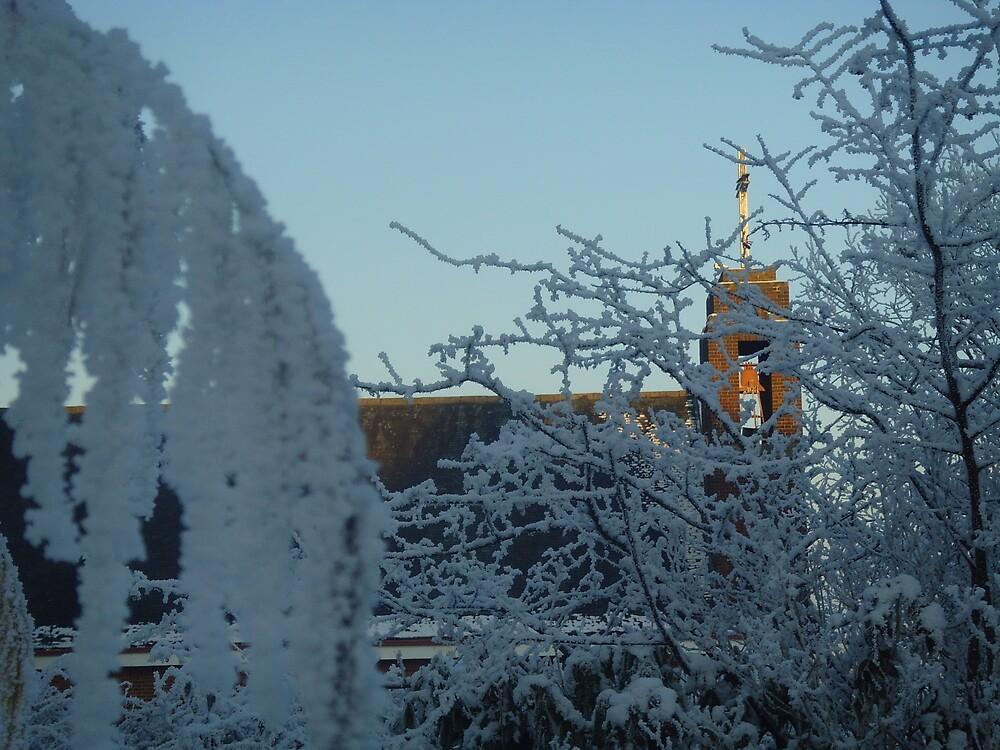 Winter scene with church II by Caroline Clarkson