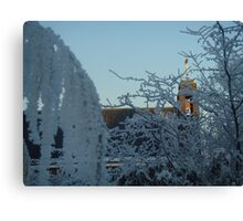 Winter scene with church II Canvas Print