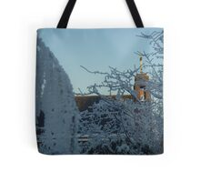 Winter scene with church II Tote Bag