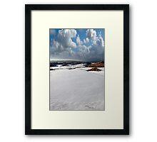 atlantic coastal snow covered links golf course Framed Print
