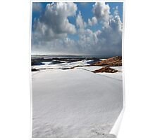 atlantic coastal snow covered links golf course Poster