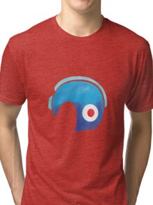 Mega Man Helmet Shirt or Hoodie Tri-blend T-Shirt