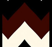 Zigzag maroon, black & white - Iphone case  by sullat04