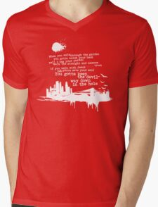"""Way Down In The Hole"""" - The Wire - Light Mens V-Neck T-Shirt"""