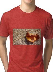 Fall Leaf Shadow Tri-blend T-Shirt