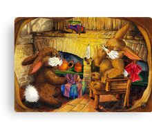 HOLIDAY SEASON IN THE RABBIT HOLE Canvas Print