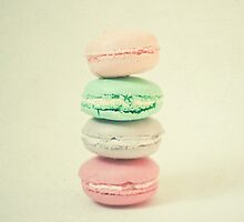 Four Macarons by Cassia Beck