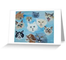 Crazy Cats by a serial killer Greeting Card