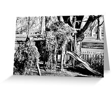 B&W Grown-Up Swing Set Greeting Card