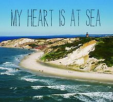 My Heart is At Sea Typography  by jaffrywardjr