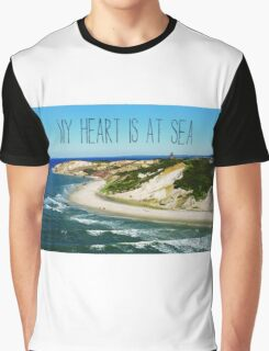 My Heart is At Sea Typography  Graphic T-Shirt