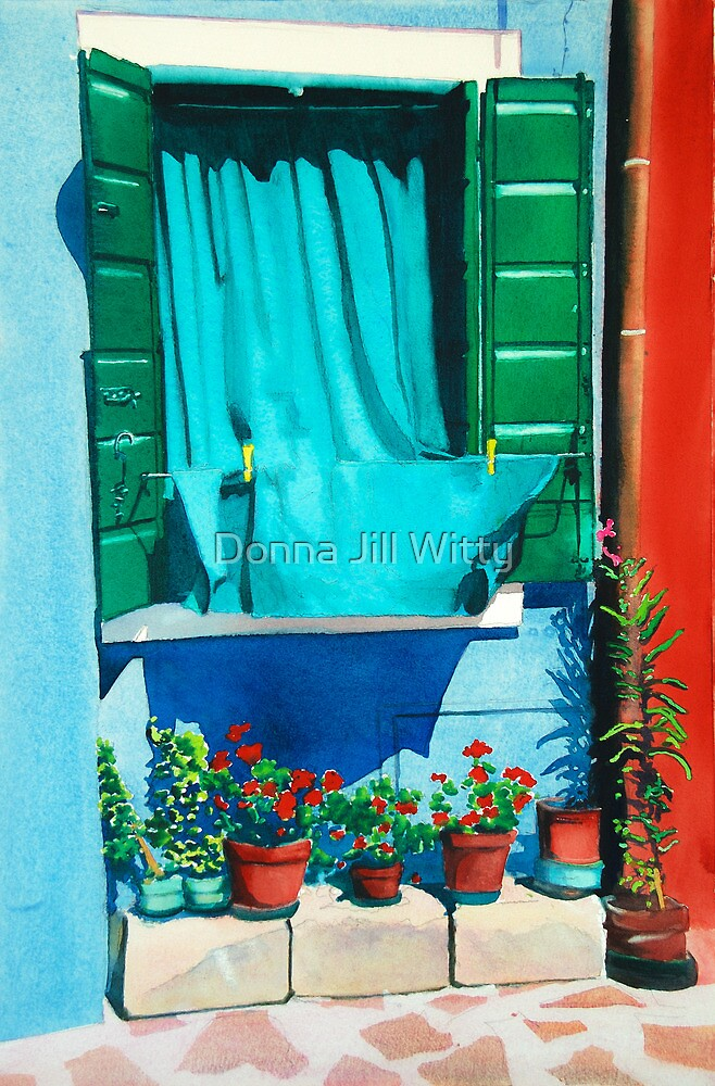 Burano Curtain by Donna Jill Witty