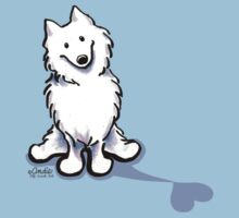 Samoyed Love Shadow One Piece - Short Sleeve