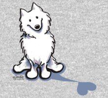 Samoyed Love Shadow One Piece - Short Sleeve