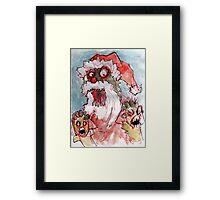 zombie santa Framed Print