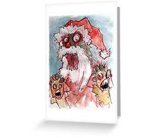 zombie santa Greeting Card