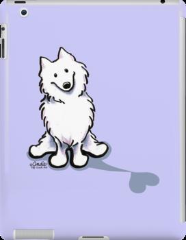 Samoyed Love Shadow by offleashart