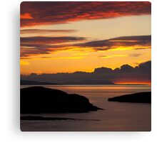 The Far North West - Embers Of The Day Canvas Print