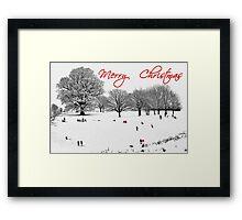 Christmas Sledging Framed Print