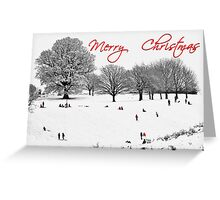 Christmas Sledging Greeting Card