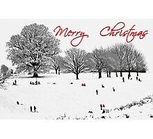 Christmas Sledging Photographic Print