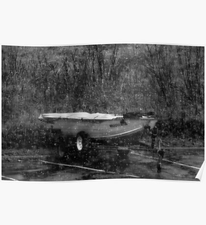 A Boat in Winter Poster