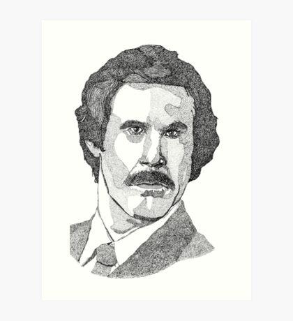 Ron Burgundy (Will Ferrell) Art Print