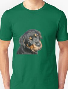 Female Rottweiler Puppy Making Eye Contact Vector Isolated T-Shirt