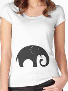 The big fat elephant Women's Fitted Scoop T-Shirt