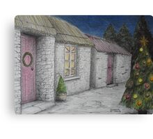 Christmas-y Cottage Canvas Print