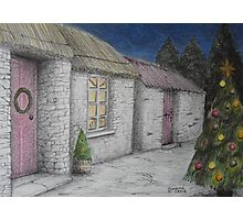 Christmas-y Cottage Photographic Print