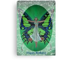 Art Deco Fantasy Fashion Happy Birthday Greetings Canvas Print